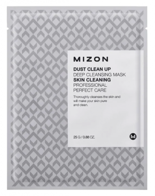 Тканевая маска очищающая MIZON Dust Clean Up Deep Cleansing Mask 25г: фото
