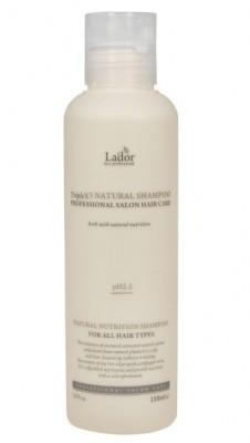 Шампунь с протеинами шелка и кератином LA'DOR Triplex natural shampoo 150мл: фото