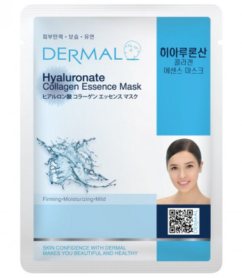 Тканевая маска гиалуроновая кислота и коллаген Dermal Hyaluronate Collagen Essence Mask 23 мл: фото