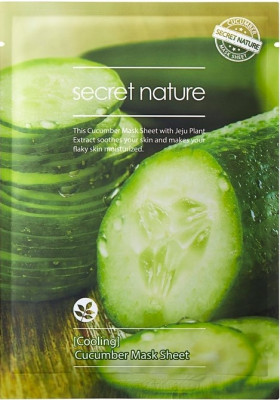 Тканевая маска для лица с огурцом Secret Nature Cooling Cucumber Mask Sheet 25 мл: фото