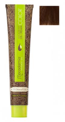 Краска для волос Macadamia Oil Cream Color 7.35 СРЕДНИЙ ЗОЛОТИСТЫЙ ШОКОЛАДНЫЙ БЛОНДИН 100мл: фото