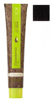 Краска для волос Macadamia Oil Cream Color 4.73 СРЕДНИЙ ШОКОЛАДНЫЙ КАШТАНОВЫЙ 100мл: фото