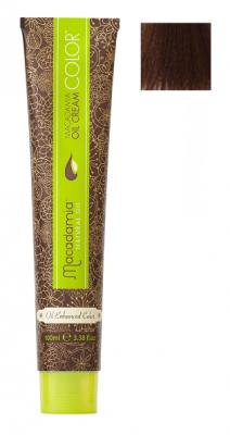 Краска для волос Macadamia Oil Cream Color 6.23 ТЕМНЫЙ ТЕПЛЫЙ ШОКОЛАДНЫЙ БЛОНДИН 100мл: фото