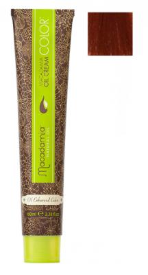 Краска для волос Macadamia Oil Cream Color 7.664 ЯРКИЙ КРАСНО МЕДНЫЙ СРЕДНИЙ БЛОНДИН 100мл: фото