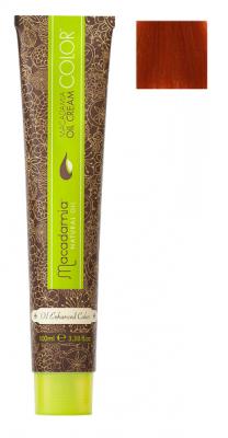 Краска для волос Macadamia Oil Cream Color 7.446 ЯРКИЙ МЕДНЫЙ КРАСНЫЙ СРЕДНИЙ БЛОНДИН 100мл: фото