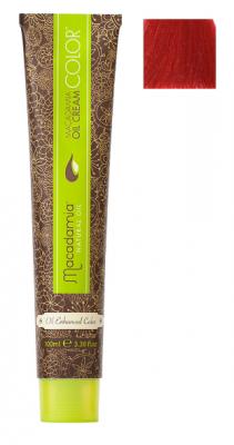 Краска для волос Macadamia Oil Cream Color 7.666 ЭКСТРА-ЯРКИЙ ТЕМНО КРАСНЫЙ БЛОНДИН 100мл: фото