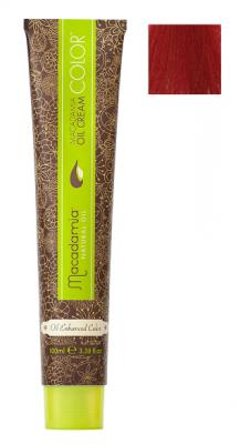 Краска для волос Macadamia Oil Cream Color 6.666 ЭКСТРА-ЯРКИЙ ТЕМНО КРАСНЫЙ БЛОНДИН 100мл: фото
