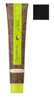 Краска для волос Macadamia Oil Cream Color 1 ЧЕРНЫЙ 100мл: фото